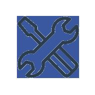 Icon eines Schraubenschlüssels und Schraubenziehers
