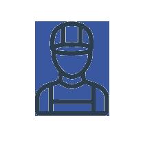 Icon eines Bauarbeiters