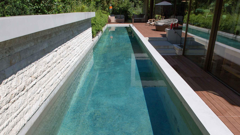 Poolvariante für engen Raum